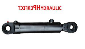 Hydraulikzylinder Doppelwirkend DW Zylinder 50/28 200 Hub mit Gelenkaugen 30mm