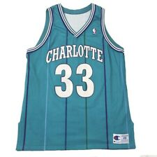Authentic Alonzo Mourning Hornets Champion Jersey 48 Sample Pro Cut