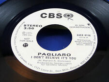 MICHEL PAGLIARO - I Don't Believe It's You - 1975 NEAR MINT- PROMO 45