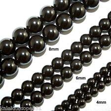Magnetic Hematite Beads HIGH POWER 8mm Round Bead Strands HP8