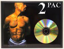 2 Pac / Tupac Shakur LTD Edition 24kt Gold CD Poster Art Display Free Shipping