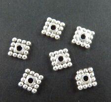 500pcs Tibetan Silver Square Spacers 5x5mm 1422