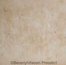 "Handmade Paper, light beige, lightly textured, thin, 20"" x 15"" made in the 1980s"