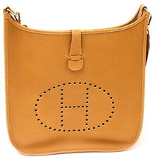 AUTHENTIC! HERMES EVELYNE GM GOLD CLEMENCE LEATHER GHW SHOULDER BAG, 1997