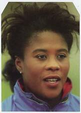 Scarce Trade Card of Tessa Sanderson, Athletics 1997