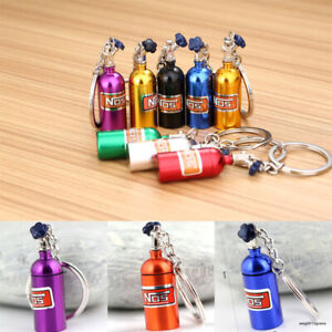 Portable Keychain NOS Mini Nitrous Oxide Bottle Keyring Stash Pill Box Storage