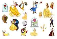 BEAUTY AND THE BEAST  Birthday Party edible stand up cup cake muffin toppers