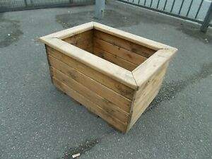 Pine long Planter  inches 424 long  x 16 wide x 12 high ---   Buyer to collect