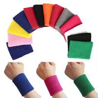 Unisex Women Men Sports Yoga Sweatband Gym Stretch Wristband Wrist Towelling