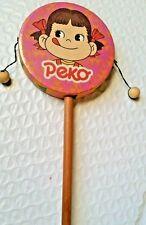 "Vintage PEKO and POKO  Rattle, Drum, Noise Maker, 3"" x 7"" Japan Toy"