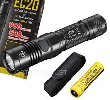 Nitecore EC20 960 Lumens Compact LED Flashlight w/ 3400mAh 18650 & Bonus Holster