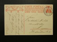 Switzerland 1909 Postal Card Used - Z6748