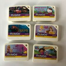 Lot of 6 Mobigo Vtech Games Disney Cars Hello Kitty Brave Princess Tangled Dora