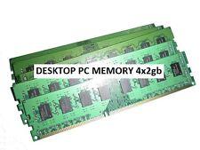 8GB  (( 2gb x 4 )) DDR3 Desktop PC Memory Ram Kit dimm PC3 pc3-10600 1333mhz PC