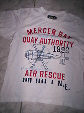"""Cooles """"H&M"""" Motiv-Shirt, weiß-rot-blau, neuw. Gr.134/140"""