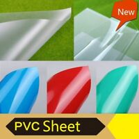 PVC Matte Transparent Clear Red Sheet Plate Plastic Film For Art Craft DIY Hobby