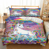 Rainbow Unicorn Duvet Cover Set For Comforter Twin Queen King Size Bedding Set