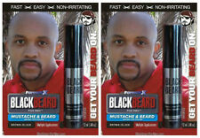 Mens Cover Hair Colour Mascara Beard Moustache Eyebrows Sideburns BROWN/BLACK X2