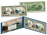 RMS TITANIC Ship * 100th Anniversary * Colorized US $2 Bill Genuine Legal Tender
