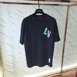 Louis Vuitton LV x NBA Front-And-Back Letters Print T-ShirtBLACK. MEN'S XL