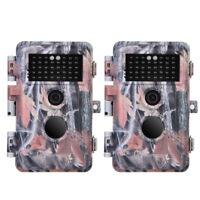 2-Pack 16MP 1080P Trail & Game Hunting Deer Cameras Night Vision Waterproof