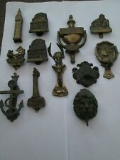 12 ASSORTED ANTIQUE DOOR KNOCKERS