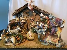 Grandeur Noel Porcelain Nativity Set With Creche Collectors 2001