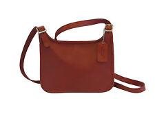 Coach Dark Red Leather Magnetic Snap Cross Body Envelope Bag - GR8!