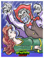 Masked MONSTERS ATTACK! Dracula Wax Digital TRADING CARD #7 like topps gpk