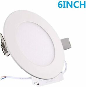 12W 6 Inch Ultra-Thin Round Led Panel Fixture Light Recessed Ceiling Bulbs