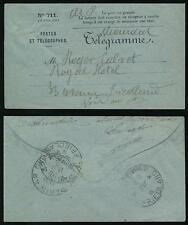 FRANCE 1915 TELEGRAM ENVELOPE FRIEDLAND TELEGRAMME