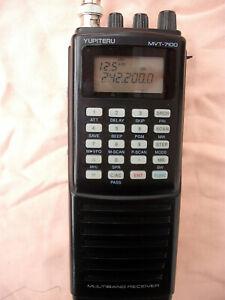 Yupiteru MVT-7100 1000 Channel Receiver boxed c/w manual charger batteries etc