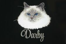 Birman Cat Breed Embroidered Tote Bag Personalized Gift