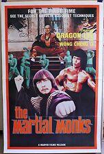 THE MARTIAL MONKS * DRAGON LEE & WONG CHENG LI * 20% OFF ORIG  1SHT MOVIE POSTER