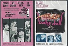 THE NIGHT OF THE IGUANA BABY DOLL Richard Burton Tennessee Williams 2 NEW  DVDs