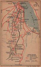 Semnoz. lac d'annecy. vintage topo-guide carte plan. haute-savoie 1920 ancienne