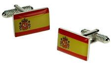 Spanish Flag Countries Flags Cuff Links Cufflinks