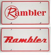 Two Rambler Embossed Metal Novelty Souvenir Plates