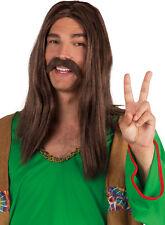 60er Hippie Schnurrbart braun NEU - Karneval Fasching Bart Verkleidung