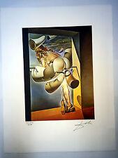 Salvador Dali Litografia 50 x 65 Bfk Rives Timbro a secco Firmata a Matita D010