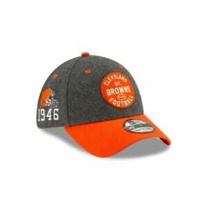 CLEVELAND BROWNS 1946 NFL NEW ERA OFFICIAL 39THIRTY STRETCH FIT HAT S/M-M/L