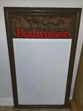 VINTAGE BUDWEISER 1987 BEER SIGN TAB IN ANHEUSER BUSCH RARE NICE CONDITION ESI
