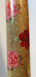Pioneer Woman Rose Gift Wrap 80 Sq Ft All Occasions HTF