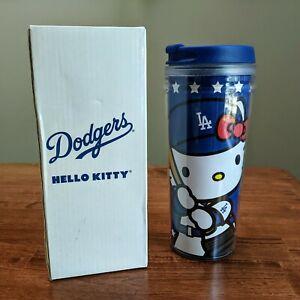 Hello Kitty LA Dodgers Tumbler Travel Mug MLB Collectible Coffee Cup