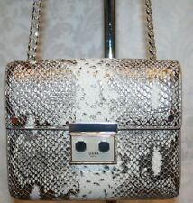 LUANA ITALY MARELLA MINI SHOULDER PEWTER SNAKE/STONE LEATHER