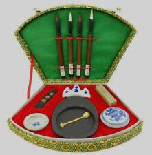 Chinese calligraphy brush pen ink Inkstone tool box set