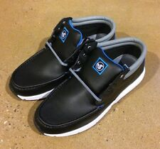 DVS HUNT HL Size 11.5 Black Leather BMX DC Skate Deck Boat Shoes $78 Box Price