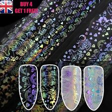 Holographic Unicorn Magic Roses Starry Nail Art Foil Transfer Stickers >>2<<