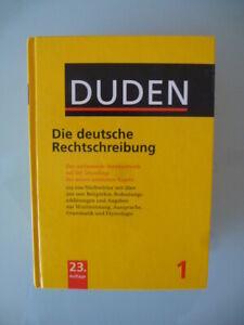 DUDEN - Die deutsche Rechtschreibung - 23. Auflage, gebunden - TOP!!!