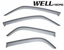For 07-13 Suzuki SX4 Hatchback WellVisors Side Window Visors with Black Trim
